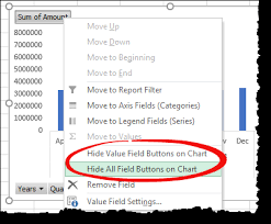 How To Hide Field Buttons In Pivot Chart Top 100 Advanced Pivot Table Tips And Tricks Updated 2019