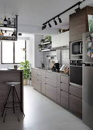 part of the design of your kitchen cabinet recessed handles are made by cutting the back of your cabinet front at an angle so that there s space for your