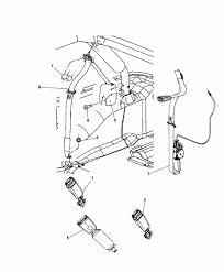 Seat belt parts diagram 1ul38dx9ab genuine jeep seat belt retractor