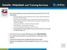 details helpdesk and training services