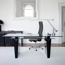 glass desks for office. Glass Office Desk Modern Top Desks For