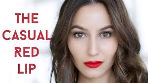 everyday cal red lip makeup tutorial you