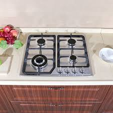 built in stove. 23 Inch Stainless Steel Built-in Kitchen 4 Burner Stove Gas Hob Cooktop Cooker Built In