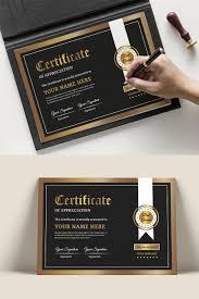 Black Gold Certificate Template