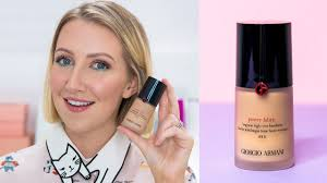 holy grail for oily skin armani power fabric foundation first impression review