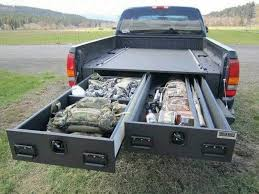 how to install a sliding truck bed drawer system diy projects intended for truck bed storage plans