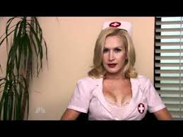 Angela Kinsey y nurse outfit from The fice s Halloween