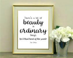 There\'s A Lot Of Beauty In Ordinary Things Quote Best of The Office Cross Stitch Beauty In Ordinary Things Embroidery