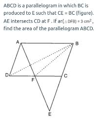 Parallelogram Venn Diagram Abcd Is A Parallelogram In Which Bc Is Produced To E Such