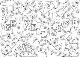Small Picture Get Well Soon Coloring Card 517267 Coloring Pages For Free 2015