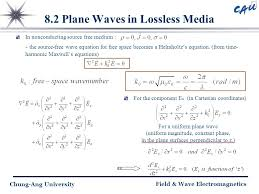 8 2 plane waves in lossless a
