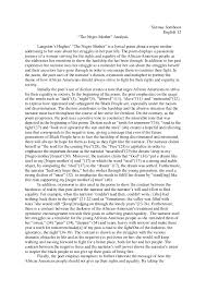analysis on mother to son literary analysis on mother to son