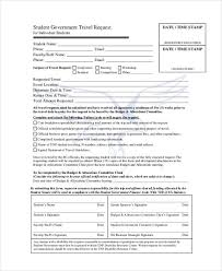 Travel Request Form Amazing Sample Travel Request Form