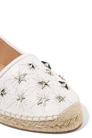 womens aquazzura espadrilles cosmic stars embellished leather espadrilles white white