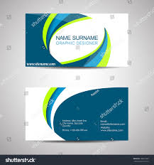 Professional Business Card Templates Abstract Professional Business Card Template Visiting Stock Vector
