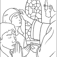 Holy Thursday Coloring Pages With Ash Wednesday Coloring Page