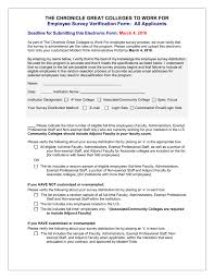 Employee Designation List Employee Eligibility Check List Chronicle Great Colleges