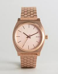 men s designer watches luxury watches for men asos nixon time teller bracelet watch in rose gold