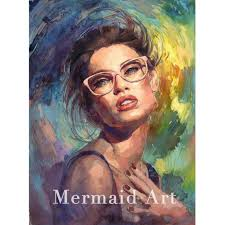 artist hand painted oil painting michael and inessa garmash lady portrait on canvas spanish woman