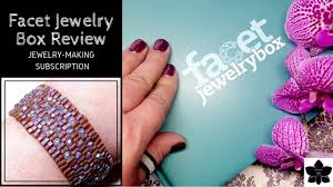 facet jewelry box sching monthly jewelry making subscription beadweaving