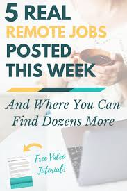 best images about extra income ideas work from 5 real remote jobs posted this week where to more