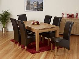 dining table with leather chairs for cow print chair decor 9
