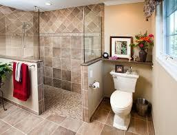 half wall shower glass cozy spacious bathroom ideas for walk in showers glass half wall in cozy traditional bathroom shower wall glass block
