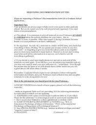 Recommendation Letter For Grad School Requesting Recommendation Letters If You Are Requesting
