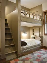 Custom built in bunk beds are a way to maximize bedroom space in comfort.