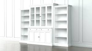 ikea billy bookcase white glass doors with cabinet attractive 4 adjule shelves bookcases