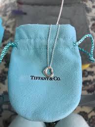 tiffany open heart elsa peretti necklace never worn