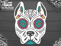 Give thanks free svg cut file (note: Dog Sugar Skull Svg Pitbull Graphic By Babygnom Creative Fabrica