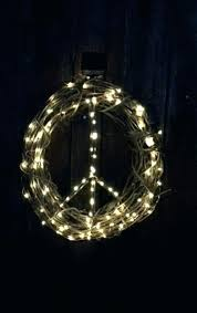 lighted peace sign image 0 lighted peace sign wreath solar peace sign lighted peace sign outdoor