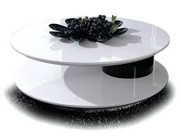 white round coffee table modern s colette modern round high gloss white coffee table