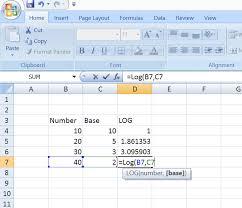 log formula
