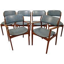 scandinavian teak dining room furniture set of six danish modern erik buch for o d mobler teak dining