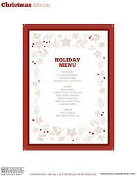Free Printable Holiday Dinner Decor Free Christmas