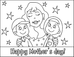 Small Picture Mothers day coloring pages mom and her kids ColoringStar