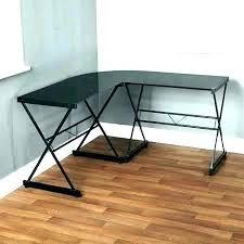 l shaped glass desk wooden and wood computer u l shaped glass desk