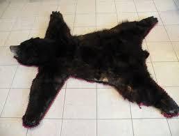 faux black bear rug