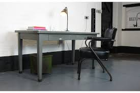 vintage office table. 1940\u0027s Vintage Grey Metal Office Table With Two Drawers By Art London Photo