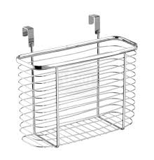 Over The Cabinet Basket Ybmhome Over The Cabinet Door Kitchen Storage Organizer Holder