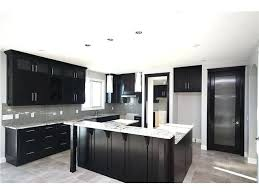 Black And Grey Kitchen Black Kitchen Cabinets And Gray Walls Photo 9
