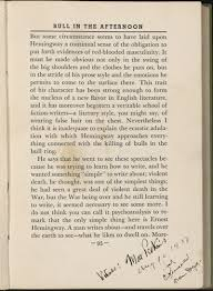 "bull in the afternoon ernest hemingway "" annotated page from max eastman s art and the life of action other essays"