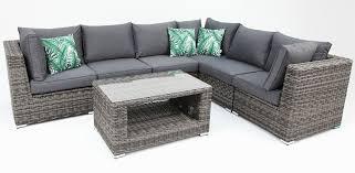 amani storage 7 piece premium modular lounge setting with coffee table grey storm