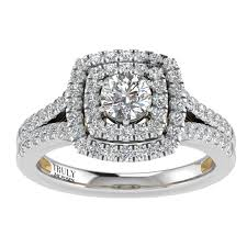 truly zac posen empowering collection halo diamond engagement ring