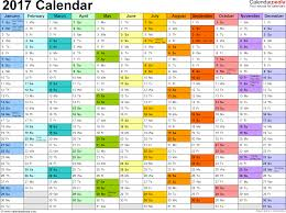 template 1 2017 calendar for excel 1 page months horizontally each month