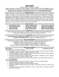 Cosmetology Sample Resume Beautician Cosmetologist Resume Example
