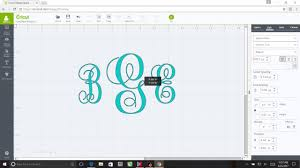 Monogram Font On Cricut Design Space How To Create A Basic Monogram Using Cricut Design Space