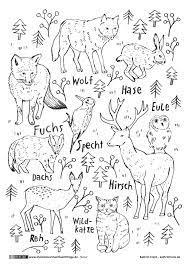 Winter ausmalbilder zum ausdrucken kostenlos. Waldtiere Waldtiere Ausmalbild Schulideen
